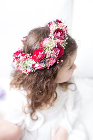 wedding flower girl's floral headpiece