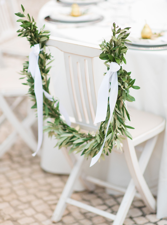 Boho Chic wedding chair floral decoration