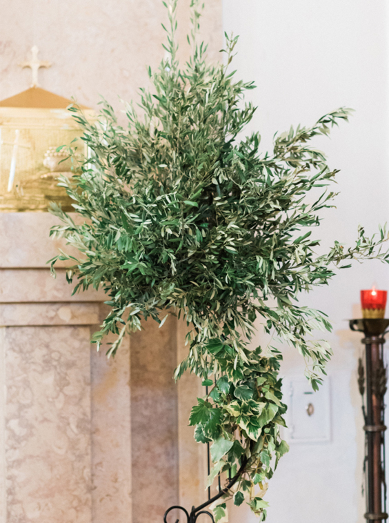 Boho Chic wedding  church  altar decoration