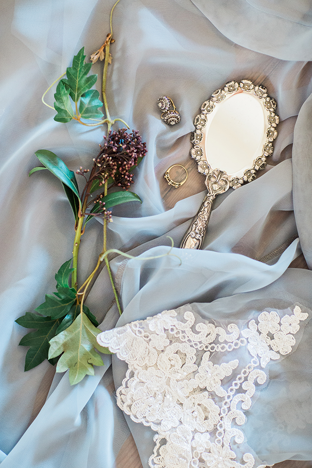 bridal robe and accessories